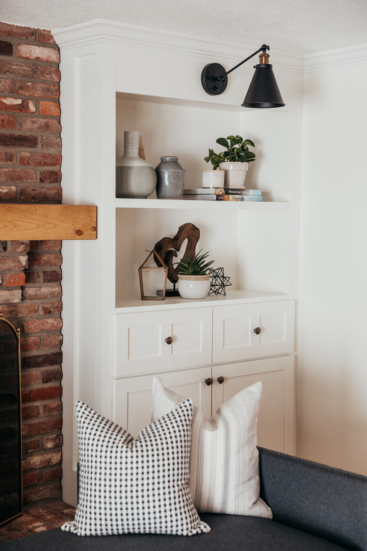 Shelf Styling for Built-in's