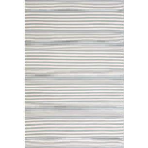 Rugby stripe light blue indoor/outdoor rug