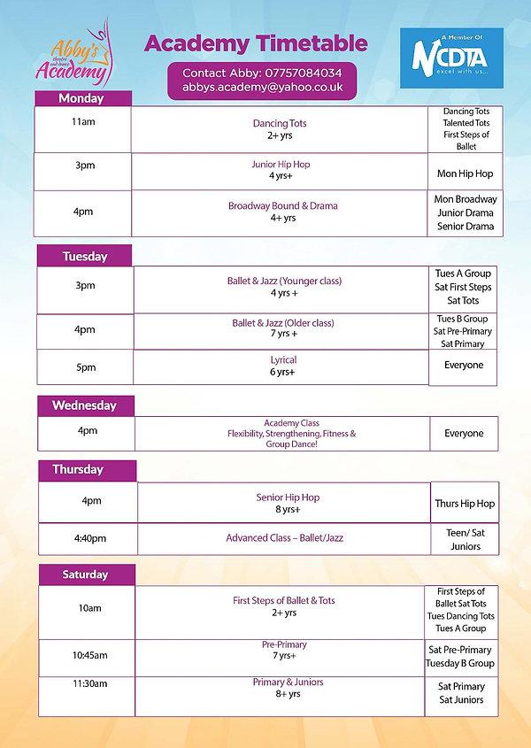 Timetable Monday 27th April.jpg