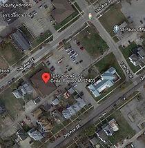 Free Clinics of Iowa Map Entrance Location