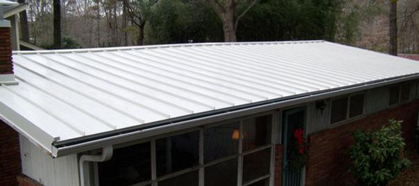 white standing seam metal roof