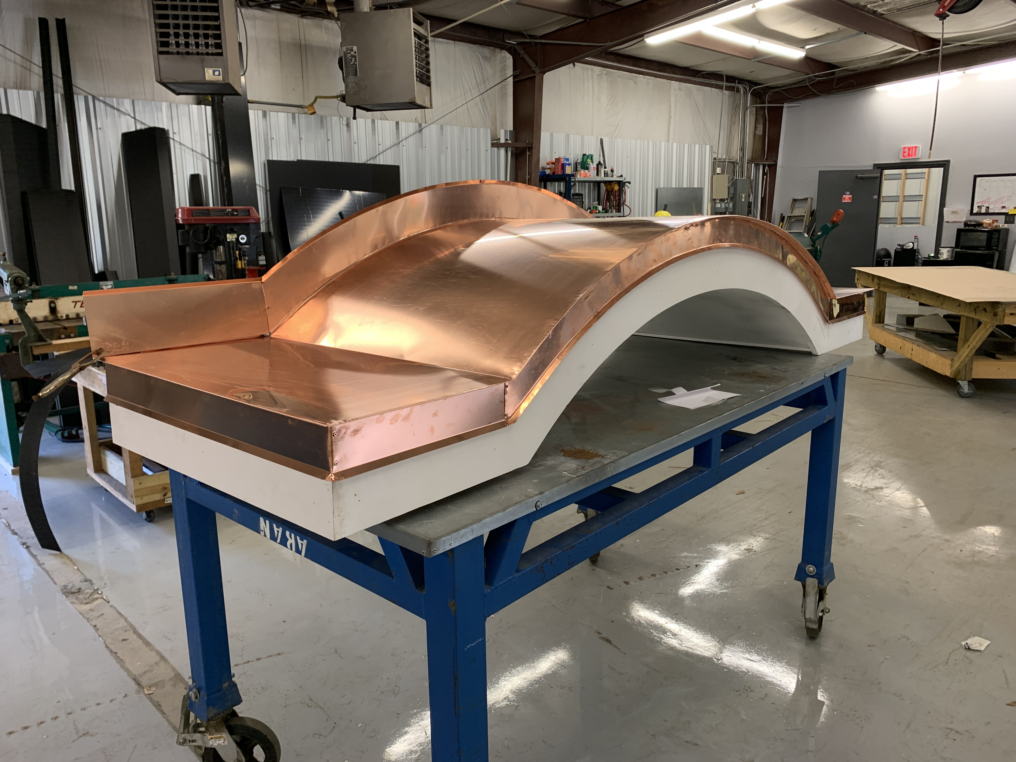 Custom Curved Copper Awning