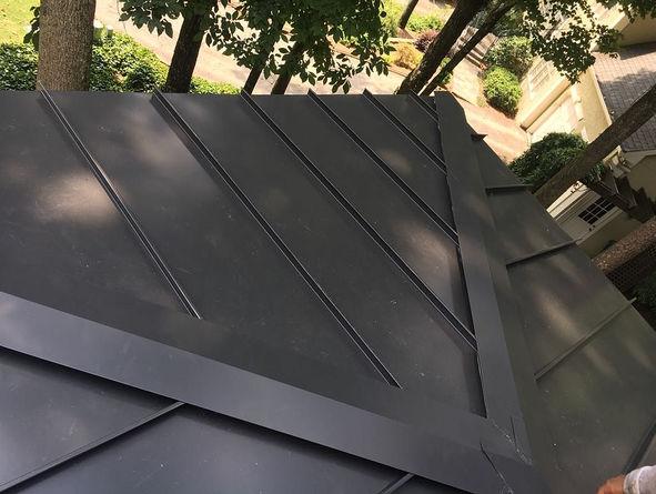 Black Galvanized Standing Seam Panels
