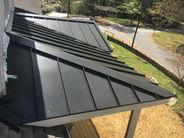 Black Mechanical Lock Standing Seam Roof