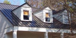 Matte Black Standing Seam Metal Roof