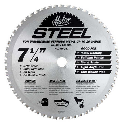 "MCCB7 Metal Circular Saw Blade, 7.25"""