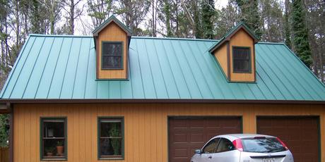 Classic Green Standing Seam Metal Roof