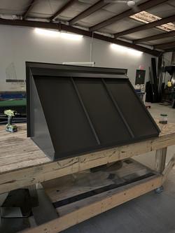 Custom standing seam awning