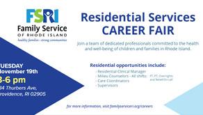 FSRI's Residential Services Program Host's Career Fair 11/19/2019