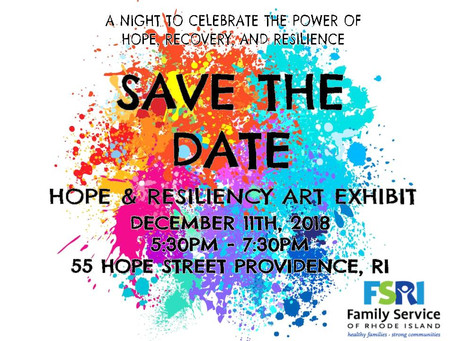 Dec. 11th - Hope & Resiliency Art Exhibit