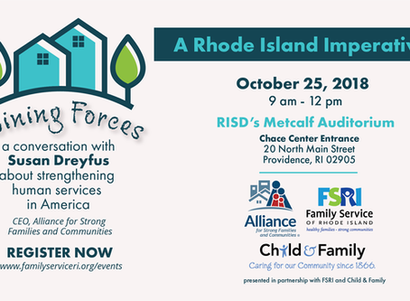 October 25, 2018 | A Rhode Island Imperative - a community forum on human services.