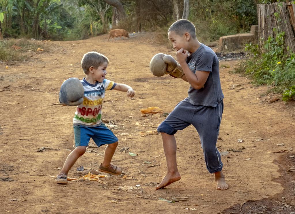Boxing Children, Viñales, Cuba