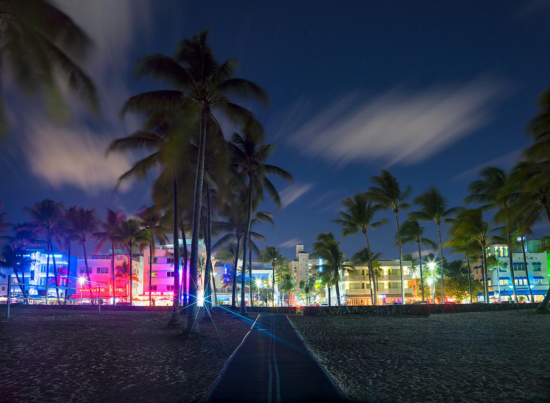 South Beach Night From Beach