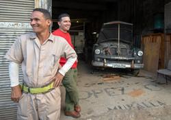Old Car Garage, Havana Cuba