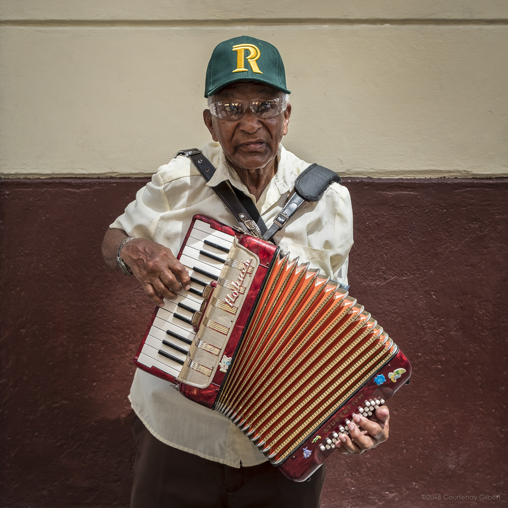 Street Accordion Musician in Havana