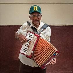 Street Accordion Musician in Havana