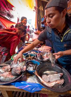 Fish for sale, Chichicastenango