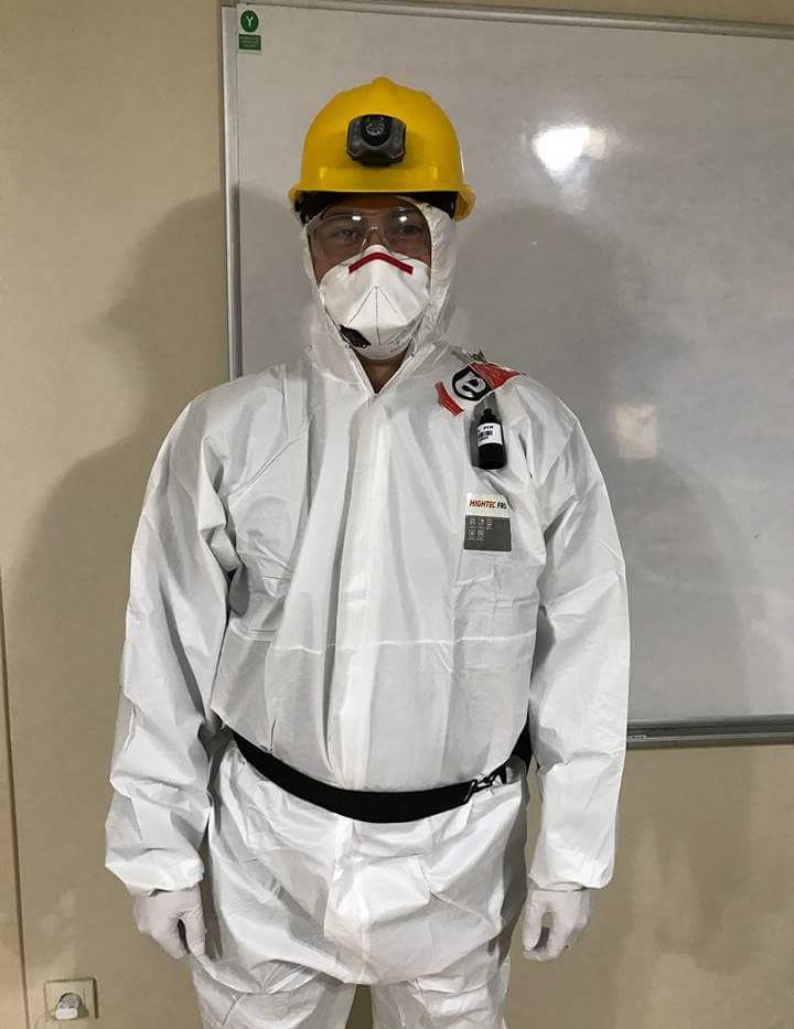 asbest çalışan kıyafet