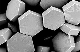 NaYF müteşekkil Fotonik üst değiştirme nanopartiküller (UCNPs), 4 , SEM ile görüntülenmiştir. UCNP'l