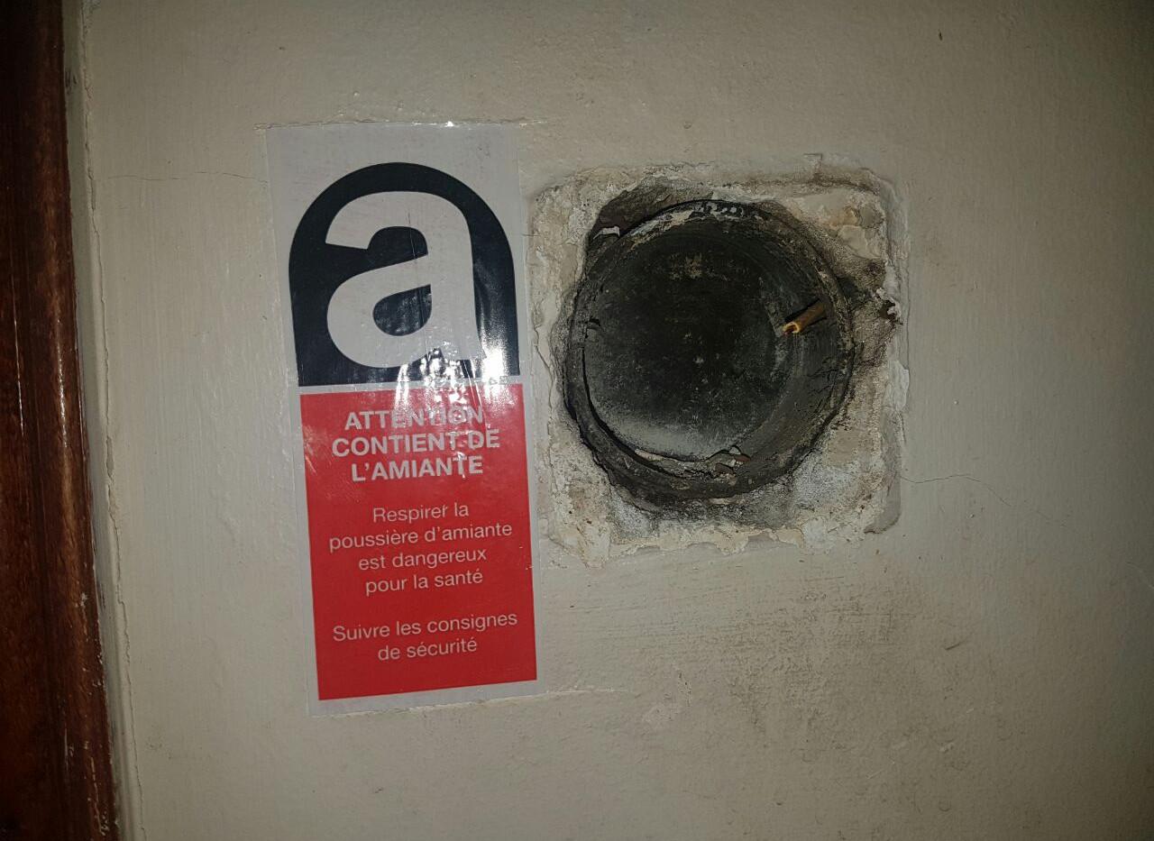 asbest etiket