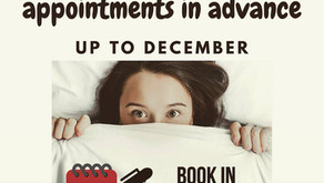 What do you think of idea to book your appointments in advance up to December?