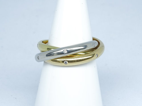 3 colour russian wedding ring