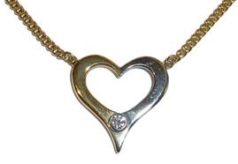 Two-colour heart pendant
