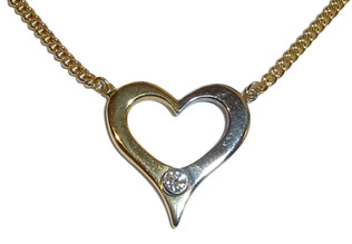 Two-colour heart pendant