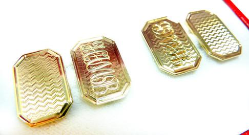 Engraved cufflinks