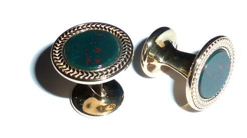 Bloodstone cufflinks