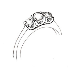 3-stone ring design