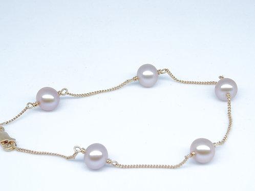 Pearl rose gold bracelet