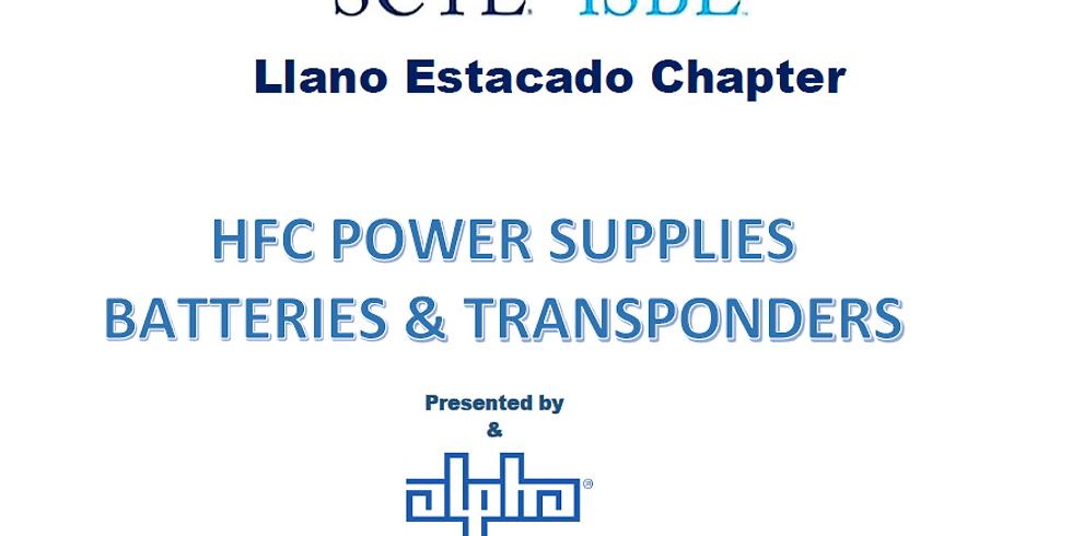 POWER SUPPLY, BATTERY & TRANSPONDER TRAINING