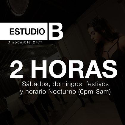 2 horas Estudio B - Extra