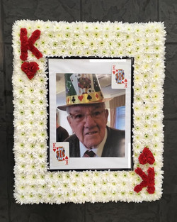 Playing Card Funeral Tribute