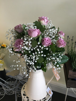 Thank you Flowers in Cream Jug