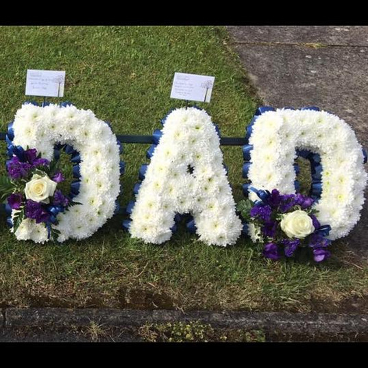 Dad Letters White and Purple