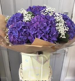 blue hydrangea flower bouquet