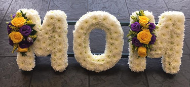 White and Yellow Mom Funeral Tribute