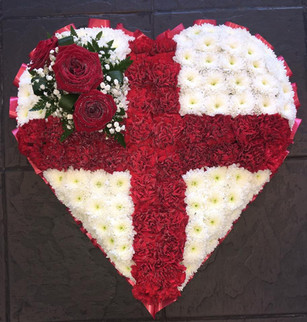 Red Cross Funeral Heart