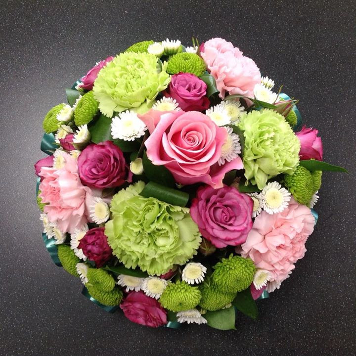 Pink and Green Posy Pad