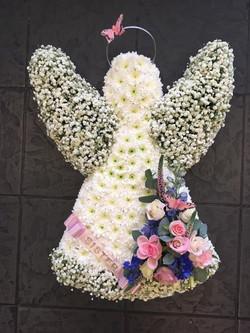 Angel funeral flowers