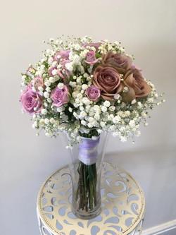 Gorgeous Pink & White Bride Bouquet