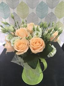 Peach Rose Flower Arrangement