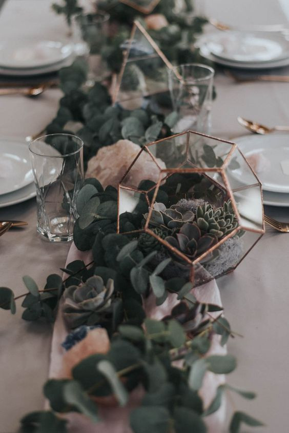 Living Greenery Centerpieces