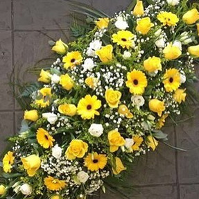 Yellow Spray for Funeral