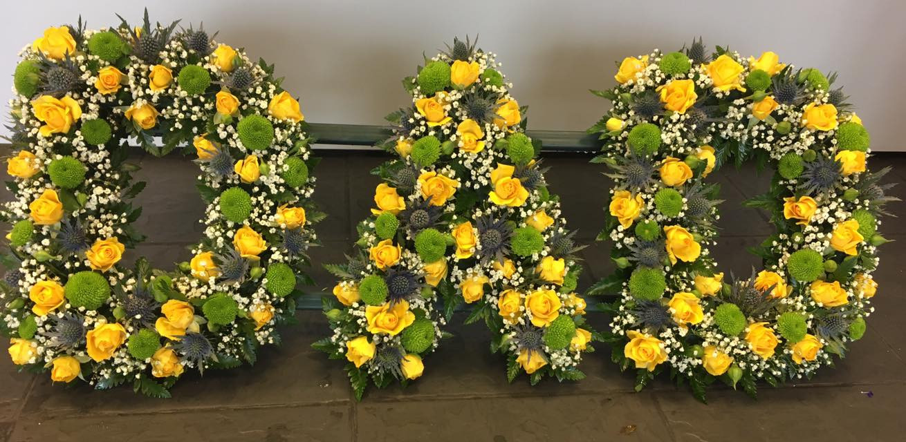 Funeral letter tributes birmingham flowers home yellow dad funeral tribute izmirmasajfo