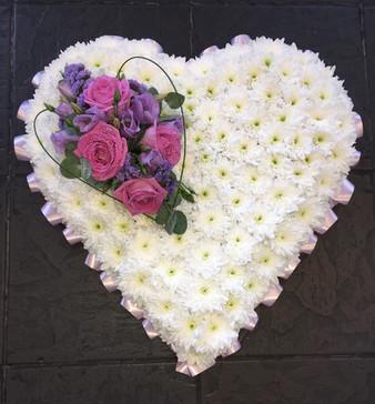 heart flower arrangement funeral