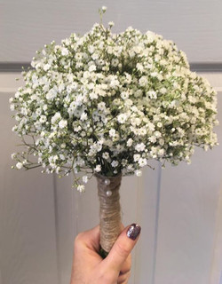 Rustic hand tied wedding bouquets wi