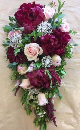 Wedding bouquets burgundy Waterfall Bouquet